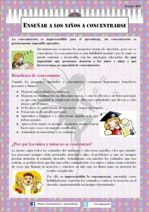 Como ayudar a los niños a concentrarse